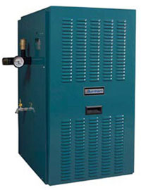 Cast iron natural gas boiler