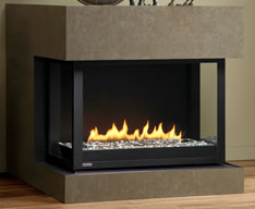 Panorama gas fireplace