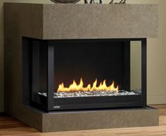 Panorama gas fireplace