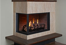 Gas glass fireplace