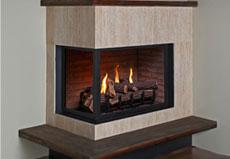 Gas glass fireplace