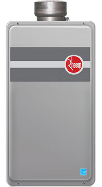 Residential hot water tankless by Rheem